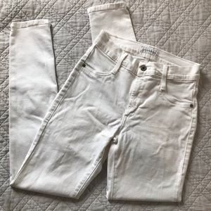 James Jeans white high class high rise skinny jean